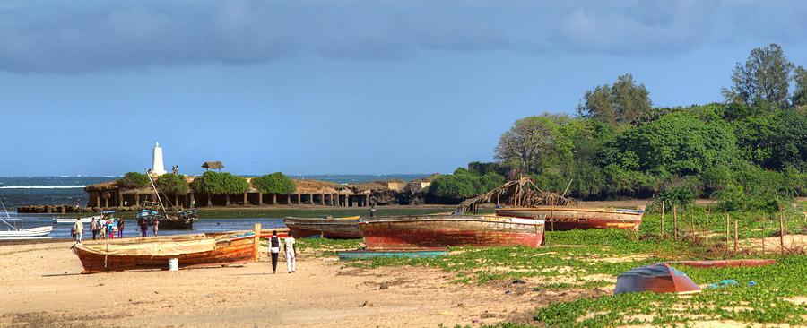 Malindi - Blick hin zum Vasco Da Gama Kreuz
