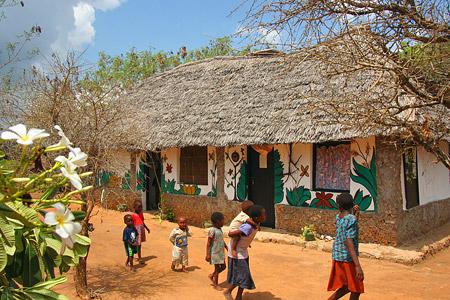 Lmagiro Farm - Kinder kommen, um sich verarzten zu lassen